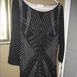 Calvin Klein black and nude stretch dress size XL